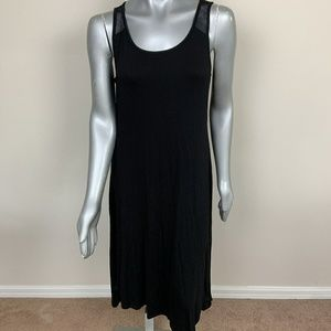 Cable & Gauge Maxi Dress Sleeveless Black Sz: L